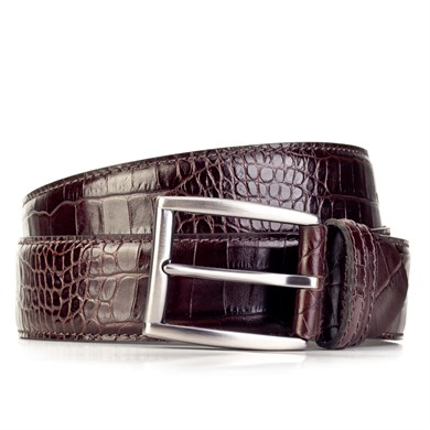 Cabani Mens 3.5 CM Stainless Nickel Buckle Stitched Classic Belt 18371134