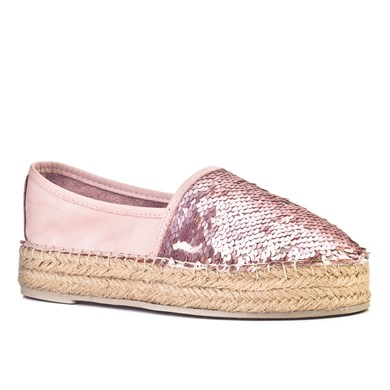 Cabani Womens Sequined Straw Detailed Espadrilles Casual Shoes 2002
