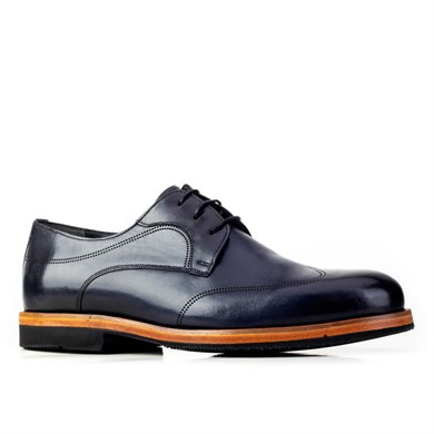 Cabani Laser Detailed Lace-Up Classic Mens Shoes 2-7